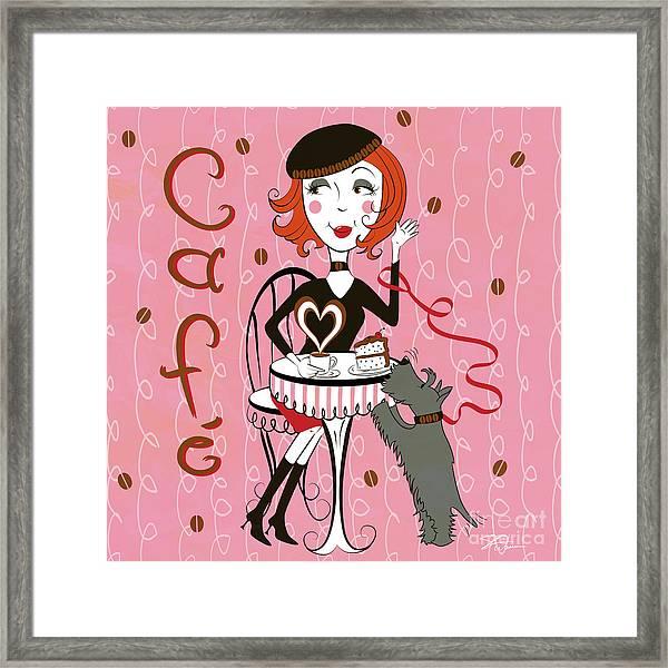Cafe Girl Framed Print