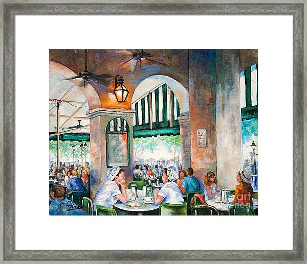 Cafe Girls Framed Print