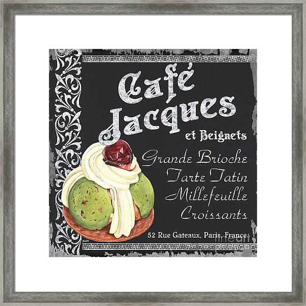 Cafe Jacques Framed Print