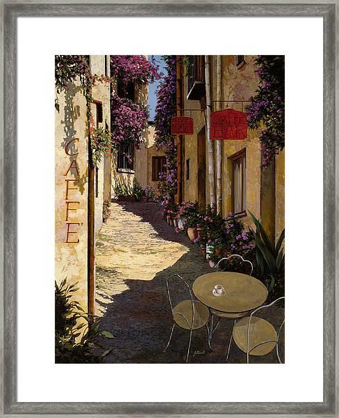 Cafe Piccolo Framed Print