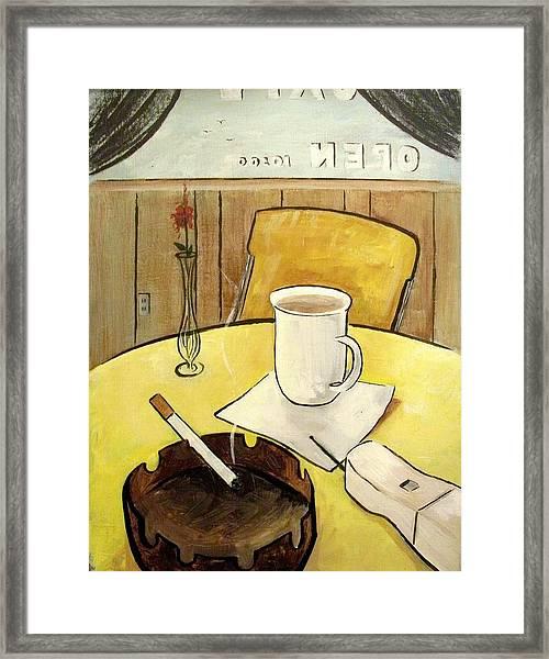 Cafe Still Life Framed Print