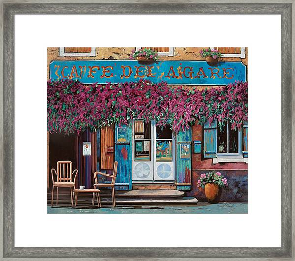 caffe del Aigare Framed Print