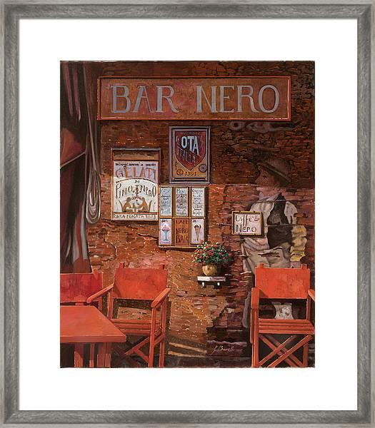 caffe Nero Framed Print