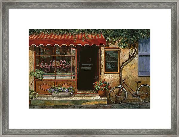 caffe Re Framed Print
