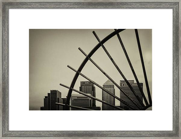 Caged Canary Framed Print