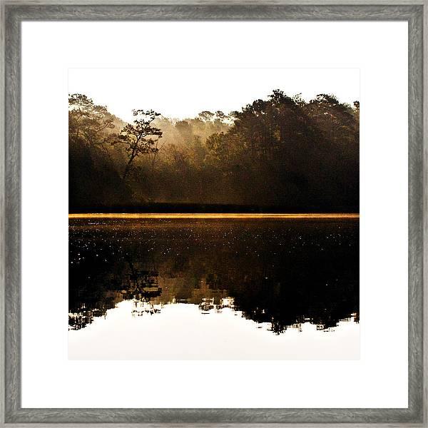 Cahooque Creek Sunrise Framed Print