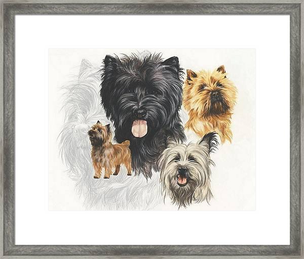 Cairn Terrier Revamp Framed Print