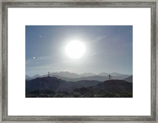 Cajon Pass Sunset Framed Print