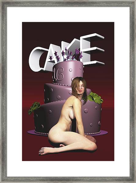 Framed Print featuring the painting Cake by Jan Keteleer