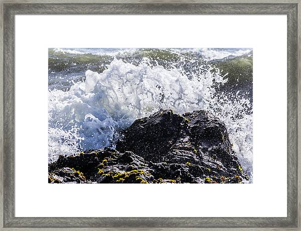 California Coast Wave Crash 4 Framed Print