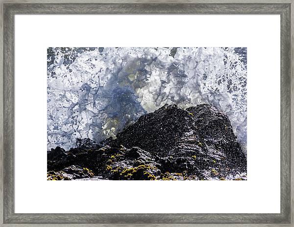 California Coast Wave Crash 5 Framed Print