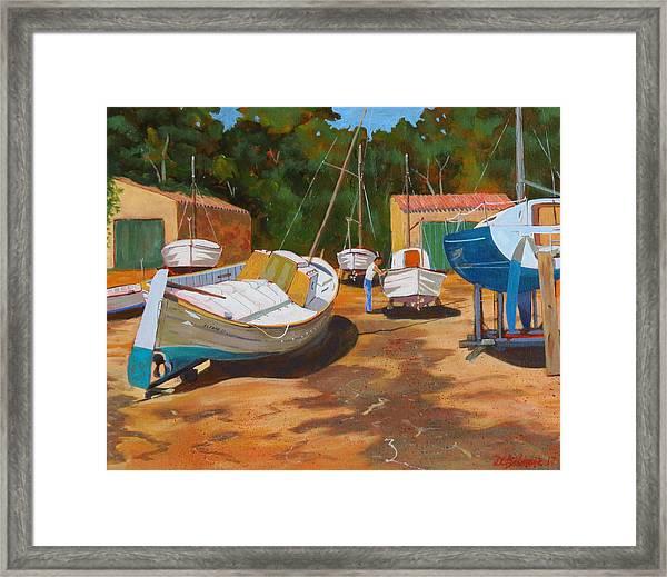Cala Figuera Boatyard - I Framed Print