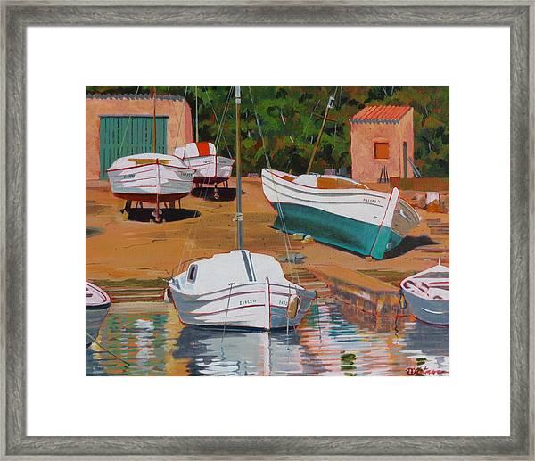 Cala Figuera Boatyard - II Framed Print