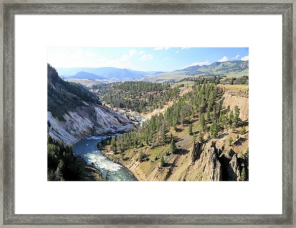 Calcite Springs Along The Bank Of The Yellowstone River Framed Print