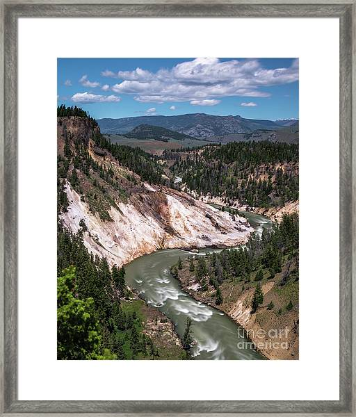 Calcite Springs Overlook  Framed Print