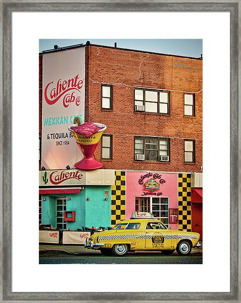 Caliente Cab Framed Print