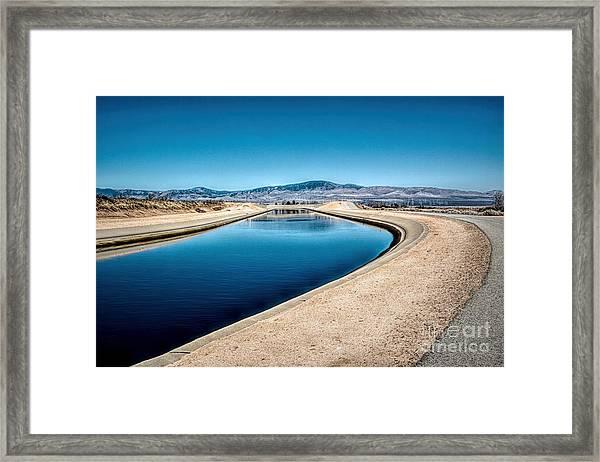 California Aqueduct At Fairmont Framed Print