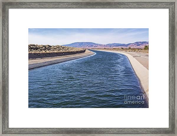 California Aqueduct S Curves Framed Print