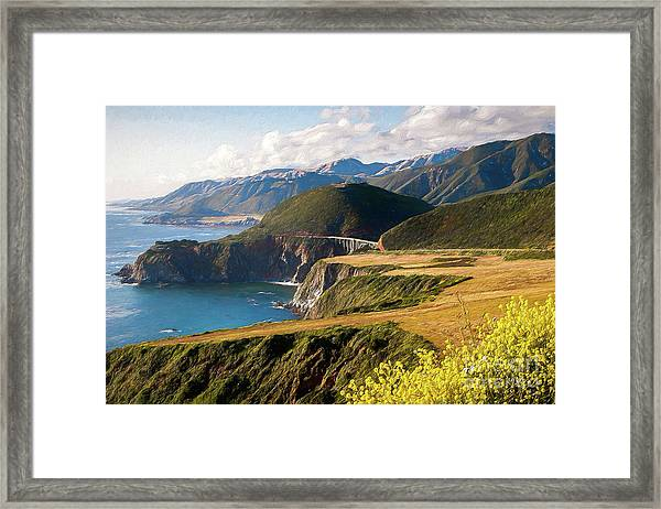 California Coast -  A View Of Bixby Ap Framed Print by Dan Carmichael