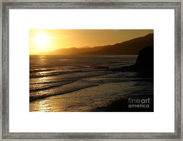 California Coast Sunset Framed Print