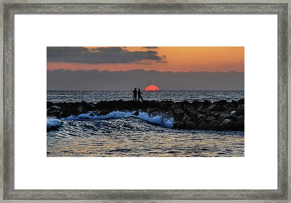 California Evening With Sandstone Effect Framed Print