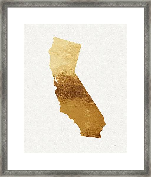California Gold- Art By Linda Woods Framed Print