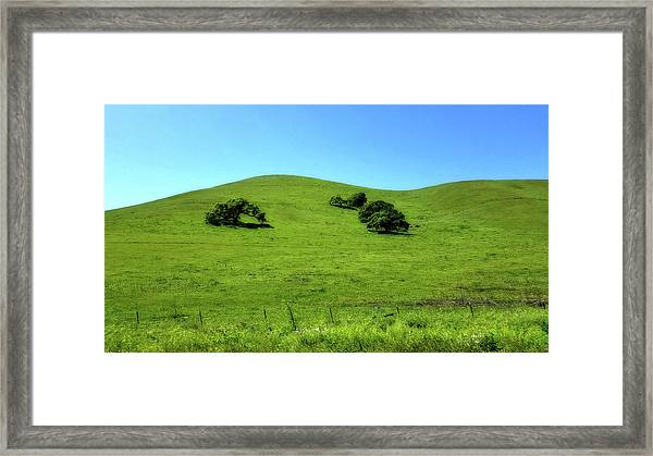 California Hills Framed Print