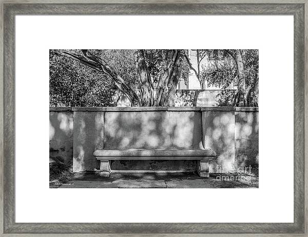 California Institute Of Technology Bench Framed Print by University Icons