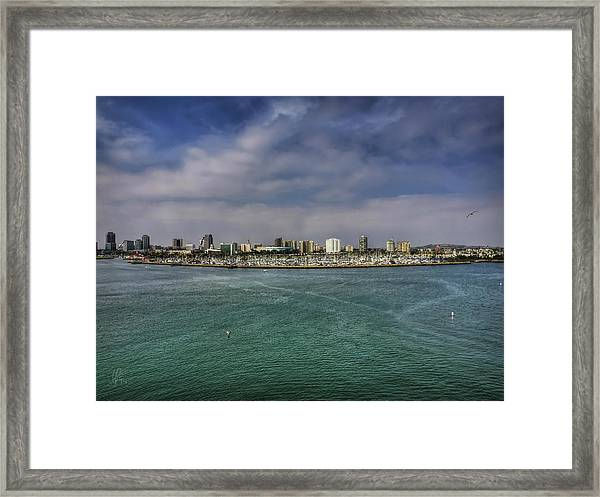 Framed Print featuring the photograph California - Long Beach 001 by Lance Vaughn