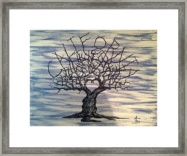 Framed Print featuring the drawing California Love Tree by Aaron Bombalicki