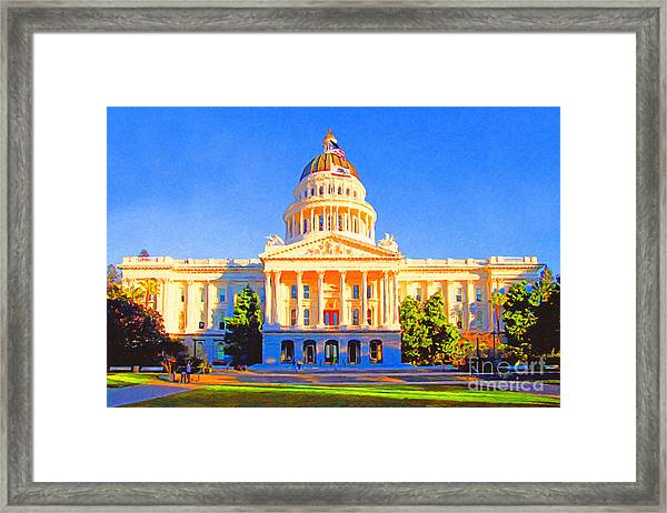 California State Capitol . Painterly Framed Print