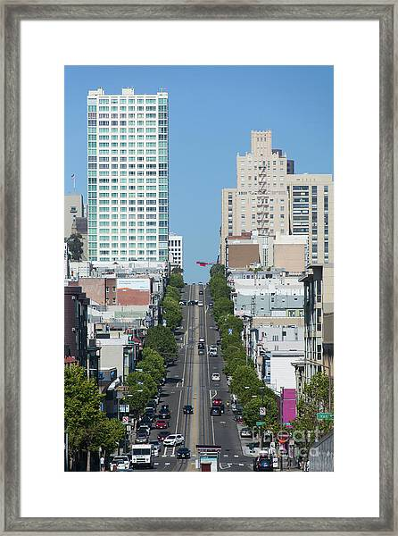 California Street San Francisco California 5d3295 Framed Print