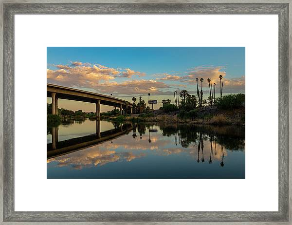 California To Arizona Framed Print