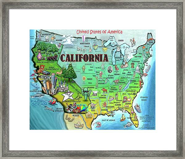 California Usa Framed Print