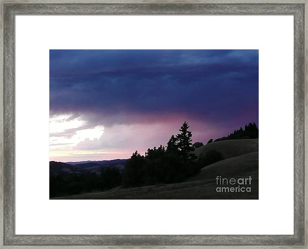 Calm Before The Really Big Storm Framed Print by JoAnn SkyWatcher