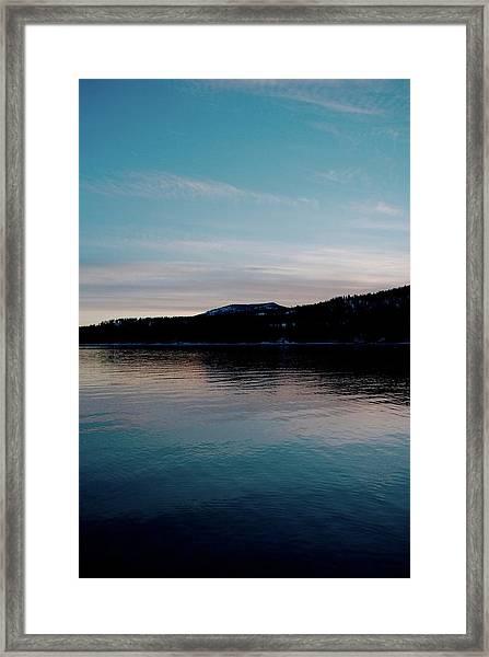 Calm Blue Lake Framed Print