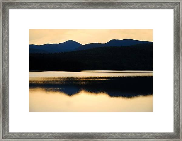 Calm Over Blue Lake Framed Print