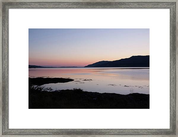 Calm Sunset Loch Scridain Framed Print