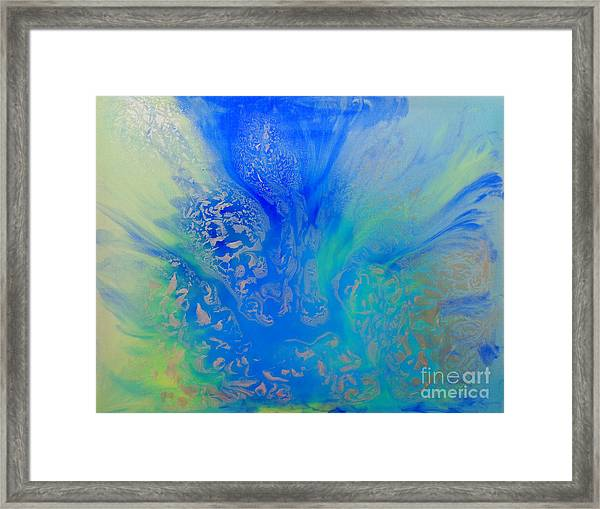Calm Waters Abstract Framed Print