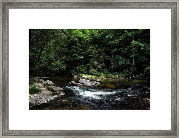 Calming Rapids Framed Print
