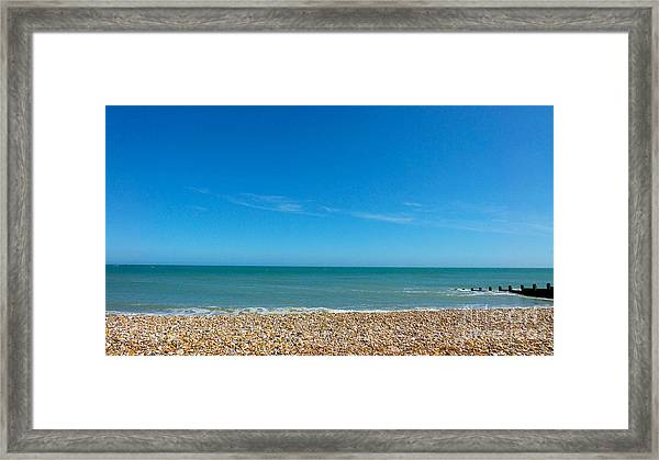 Calming Seaside View Framed Print