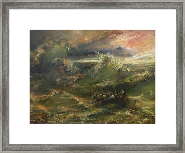 Calming The Storm Framed Print