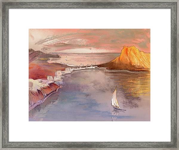Calpe At Sunset Framed Print