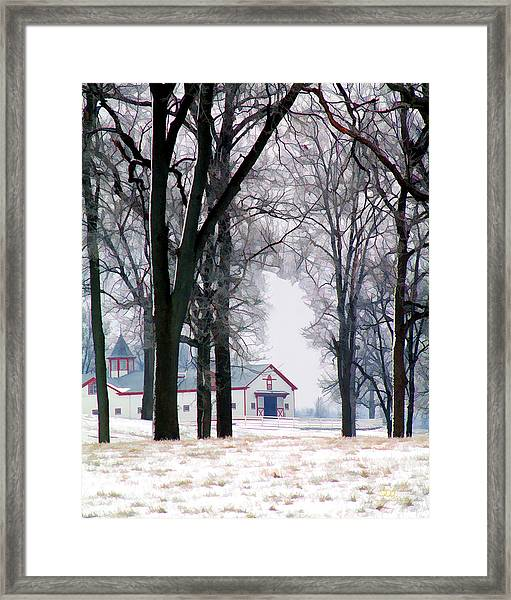 Calumet Winter Framed Print