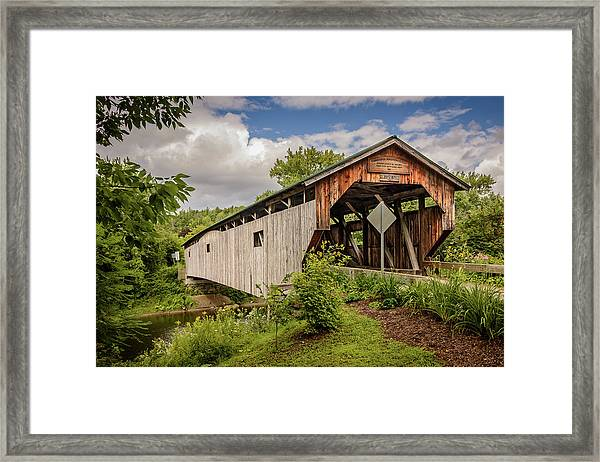 Cambridge Junction Bridge Framed Print