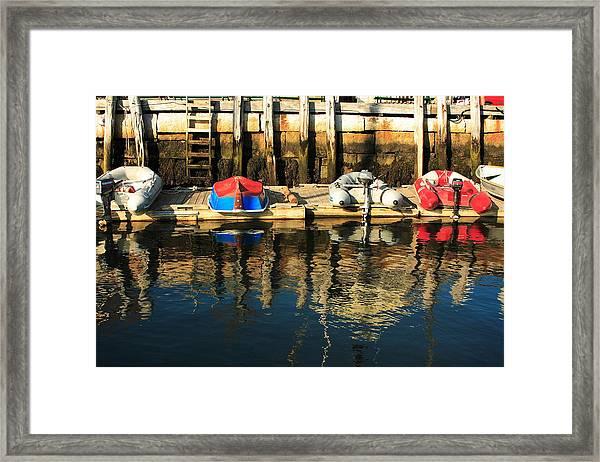Camden Boats Framed Print