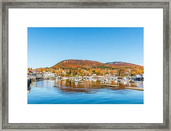 Camden Harbor Autumn Framed Print