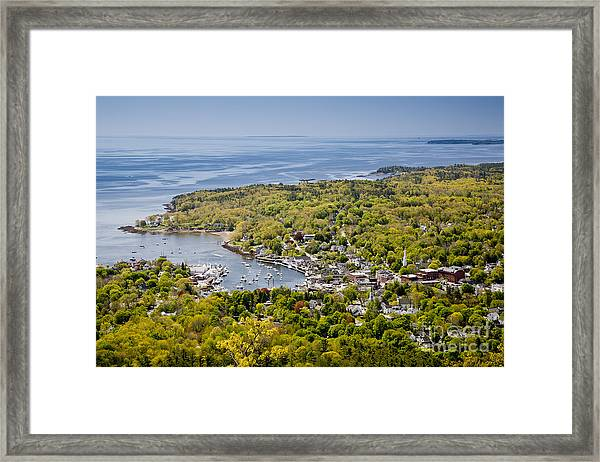 Framed Print featuring the photograph Camden View by Susan Cole Kelly