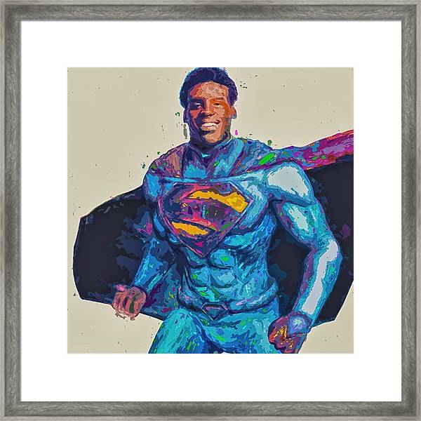 @cameron1newton #superbowl50 #2016 #art Framed Print