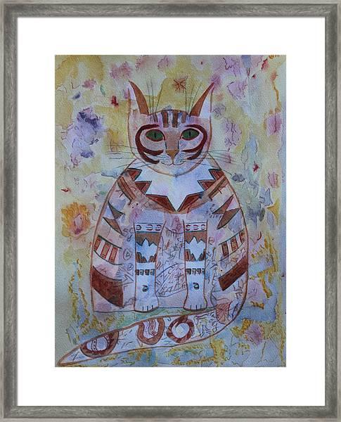 Camo Cat Framed Print